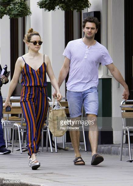 Daisy Ridley seen with rumoured boyfriend Tom Bateman shopping in Primrose Hill on April 18 2018 in London England