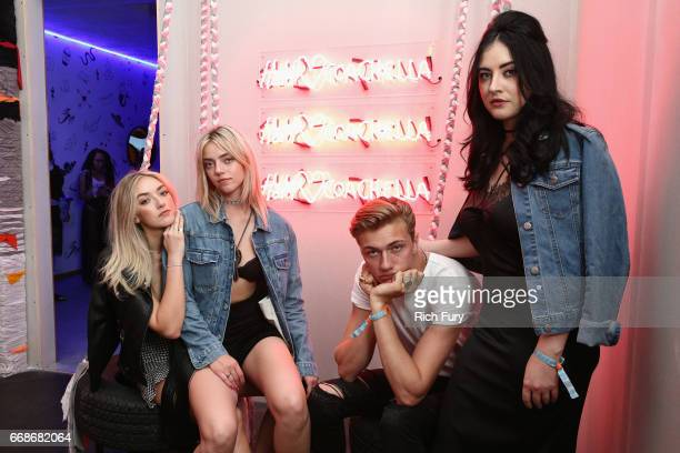 Daisy Smith Pyper Smith Lucky Blue Smith and Starlie Smith attends HM Loves Coachella Tent during day 1 of the Coachella Valley Music Arts Festival...