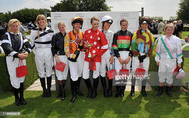 Daisy Trayford Delfina Figueras Laura Bechtolsheimer Kate Reardon Edie Campbell Sara Cox Francesca Cumani and Clare MilfordHaven attend Ladies Day at...