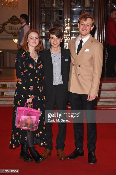 Daisy Waterstone Milo Parker and Callum Woodhouse attend the ITV Gala held at the London Palladium on November 9 2017 in London England