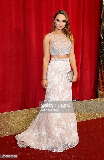 Daisy WoodDavis attends the British Soap Awards 2016 at Hackney Empire on May 28 2016 in London England