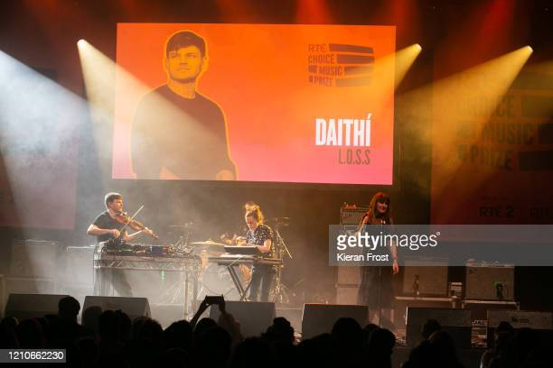 Daithi, Elaine Mai and Sinead White perform at the RTE Choice Music Prize at Vicar Street on March 05, 2020 in Dublin, Dublin.