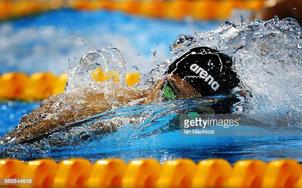 Daiya Seto of Japan competes during the heats of the Men's 400m IM on Day 1 of the Rio 2016 Olympic Games at the Olympic Aquatics Stadium on August 6...