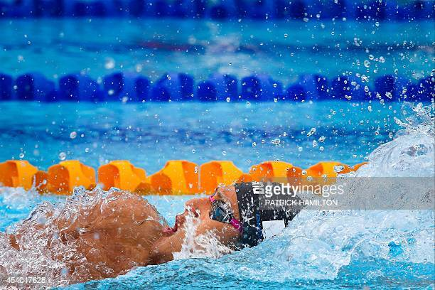 Daiya Seto of Japan competes during the Men's 200 m Individual Medley heat at the Gold Coast Aquatic Centre Gold Coast on August 24 2014 The Pan Pac...