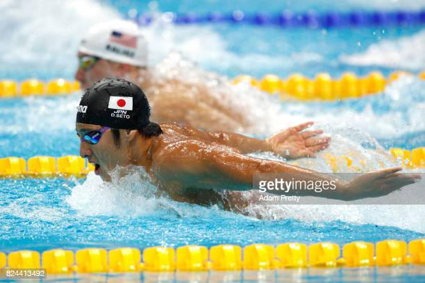 Daiya Seto of Japan competes during the Men's 400m Medley Preliminary round on day seventeen of the Budapest 2017 FINA World Championships on July 30...