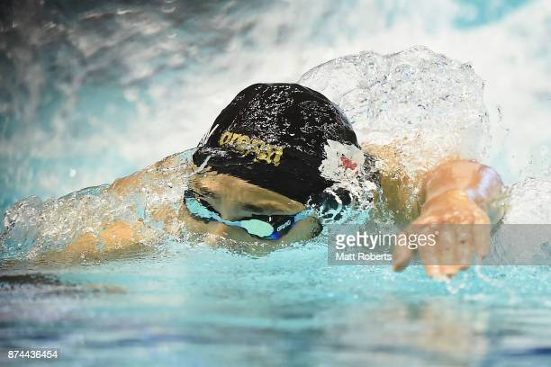 Daiya Seto of Japan competes in the Men's 400m Individual Medley Final during day two of the FINA Swimming World Cup at Tokyo Tatsumi International...