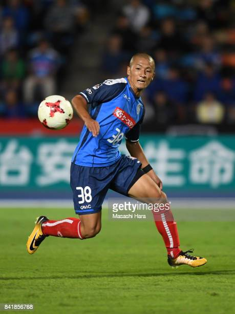 Daizen Maeda of Mito Hollyhock in action during the JLeague J2 match between Mito Hollyhock and Nagoya Grampus at K's Denki Stadium on September 2...