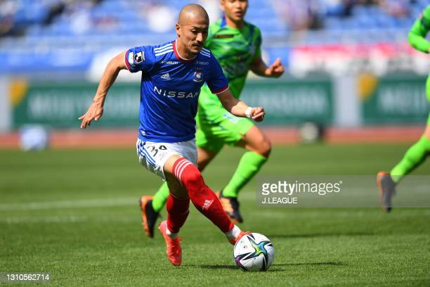 Daizen MAEDA of Yokohama F・Marinos in action during the J.League Meiji Yasuda J1 match between Yokohama F.Marinos and Shonan Bellmare at Nissan...