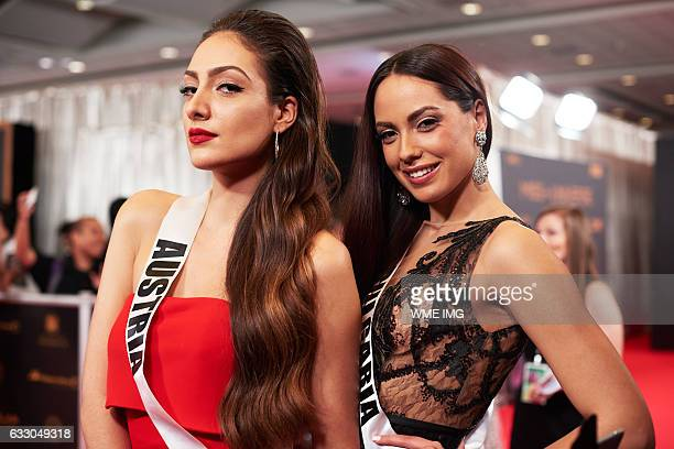 7bc752c6d6151 Dajana Dzinic Miss Austria 2016 and Violina Ancheva Miss Bulgaria 2016 on  the red carpet before