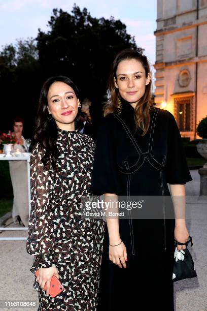 Dajana Roncione and Caroline Lever attend the gala dinner of the ISTANBUL'74 IST. Arts And Culture Festival Rome by Macakizi on June 01, 2019 at...
