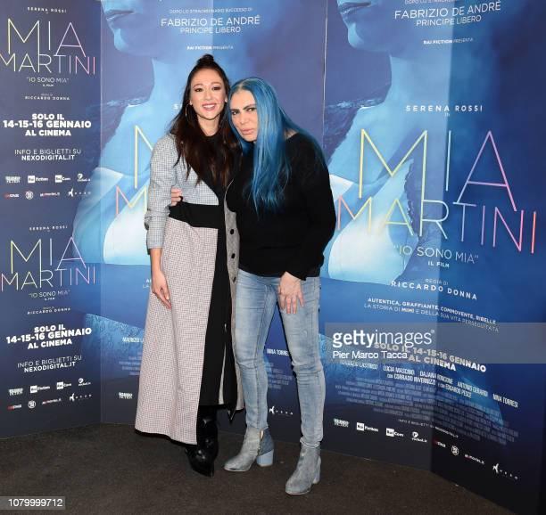 Dajana Roncione and Loredana Berte attend the 'Io Sono Mia' photocall on January 10 2019 in Milan Italy
