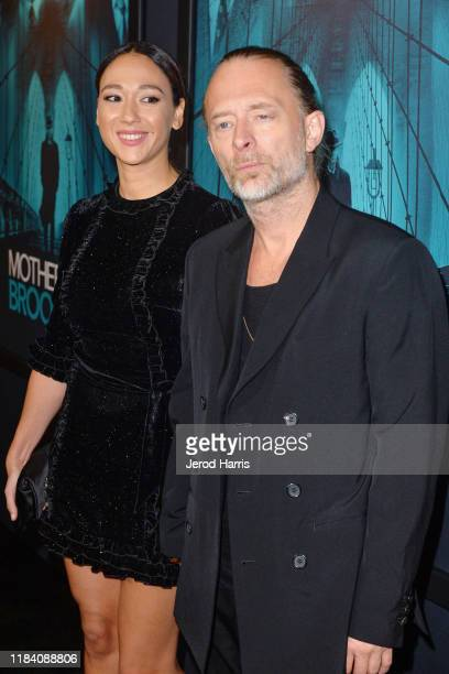 Dajana Roncione and Thom Yorke arrive at Premiere Of Warner Bros Pictures' 'Motherless Brooklyn' on October 28 2019 in Los Angeles California