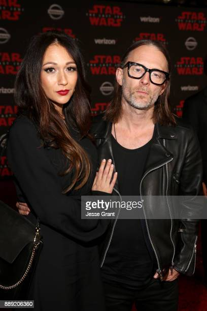 Dajana Roncione and Thom Yorke at the world premiere of Lucasfilm's Star Wars The Last Jedi at The Shrine Auditorium on December 9 2017 in Los...