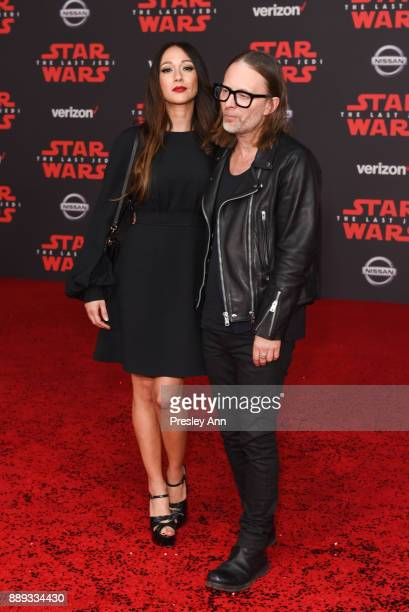 Dajana Roncione and Thom Yorke attends Premiere Of Disney Pictures And Lucasfilm's 'Star Wars The Last Jedi' Arrivals at The Shrine Auditorium on...