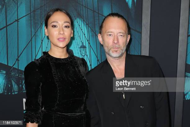 "Dajana Roncione and Thom Yorke attends the Premiere of Warner Bros Pictures' ""Motherless Brooklyn"" on October 28, 2019 in Los Angeles, California."