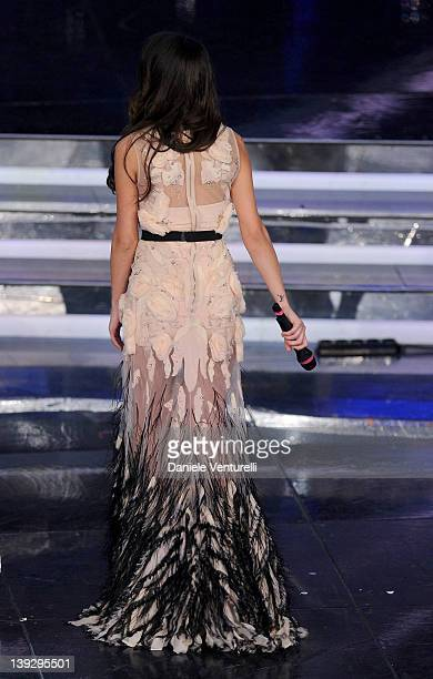 Dajana Roncione attends the closing night of the 62th Sanremo Song Festival at the Ariston Theatre on February 18 2012 in Sanremo Italy