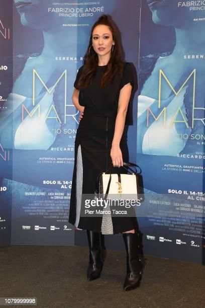Dajana Roncione attends the 'Io Sono Mia' photocall on January 10 2019 in Milan Italy