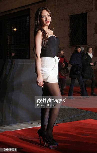 Dajana Roncione attends the The Rite premiere at Auditorium Della Conciliazione on March 9 2011 in Rome Italy