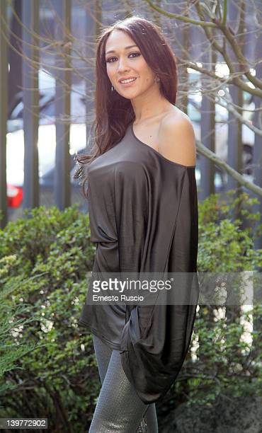 Dajana Roncione attends the 'Walter Chiari' Photocall at RAI on February 24 2012 in Rome Italy