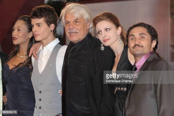 Dajana Roncione Brenno Placido director Michele Placidoactress Federica Vincenti and guest attend the Il Grande Sogno Premiere at the Sala Grande...