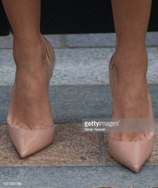 "Dajana Roncione, shoe detail, attends the World Premiere of ""The House With The Clock In Its Walls"" at Westfield White City on September 5, 2018 in..."