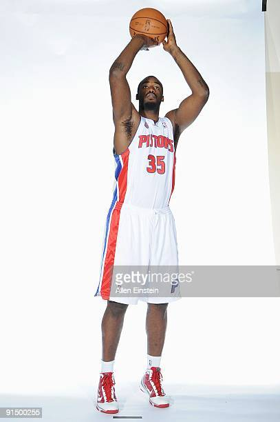 DaJuan Summers of the Detroit Pistons poses for a portrait during 2009 NBA Media Day on September 28 2009 at The Palace of Auburn Hills in Auburn...