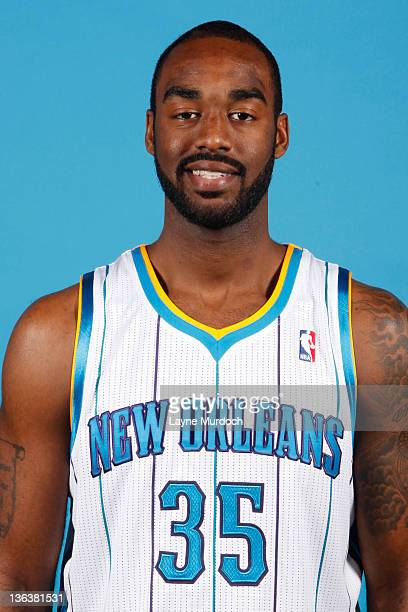 DaJuan Summers of the New Orleans Hornets poses for a portrait during media day at the New Orleans Arena on December 14 2011 in New Orleans Louisiana...