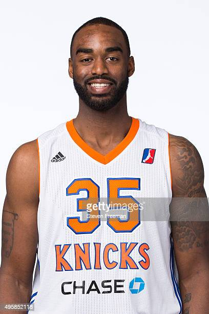 DaJuan Summers of the Westchester Knicks poses for a head shot during the NBA Development League media day on November 4 2014 at the MSG Practice...
