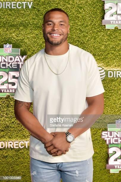 Dak Prescott attends DIRECTV CELEBRATES 25th Season of NFL SUNDAY TICKET at Nomad Hotel Los Angeles on July 17 2018 in Los Angeles California
