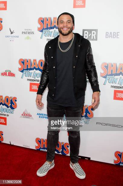 Dak Prescott attends Shaq Fun House at Live At The Battery on February 01 2019 in Atlanta Georgia