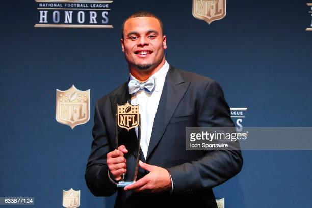 Dak Prescott named AP Offensive Rookie of the Year at the 2017 NFL Honors on February 04 at the Wortham Theater Center in Houston Texas