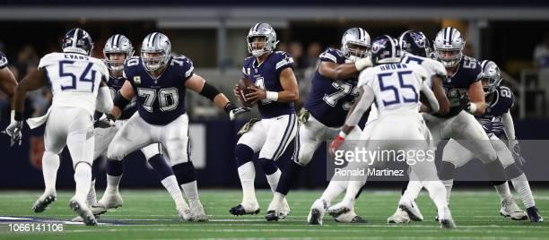 Dak Prescott of the Dallas Cowboys at ATT Stadium on November 05 2018 in Arlington Texas