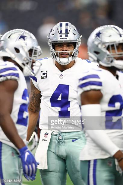 Dak Prescott of the Dallas Cowboys at ATT Stadium on September 30 2018 in Arlington Texas