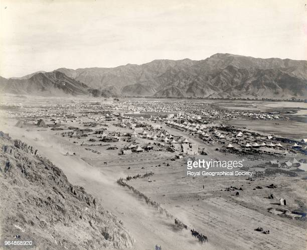 Dakka camp showing Fort Robert and Kabul River North West Frontier Pakistan 1919