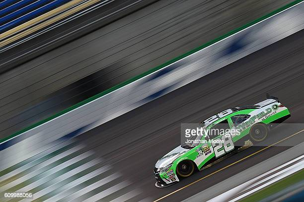 Dakoda Armstrong driver of the JGL Young Guns Toyota on track during practice for the NASCAR XFINITY Series VysitMyrtleBeachcom 300 at Kentucky...
