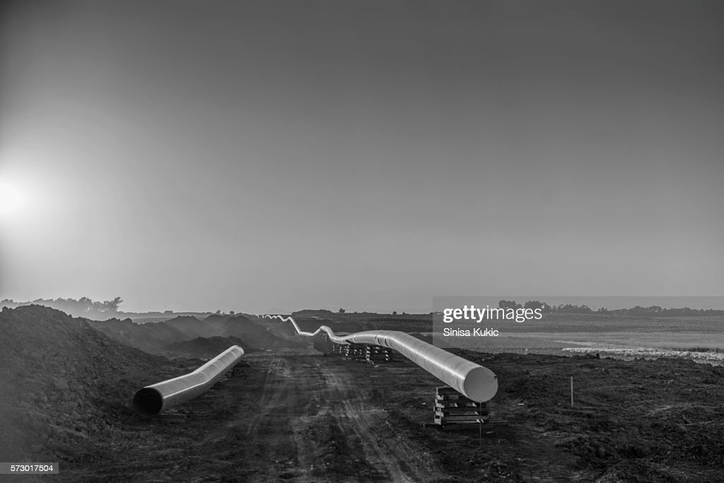 Dakota Access Pipeline Construction : Stock Photo