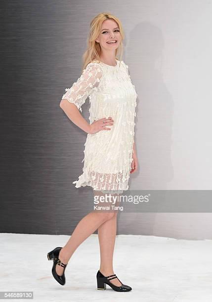 "Dakota Blue Richards arrives for the UK premiere of ""Star Trek Beyond"" on July 12, 2016 in London, United Kingdom."