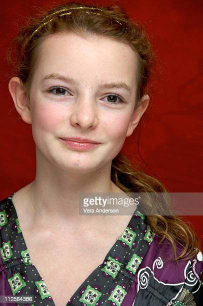 Dakota Blue Richards at 'The Golden Compass' press conference at the Claridges Hotel in London England on November 27 2007
