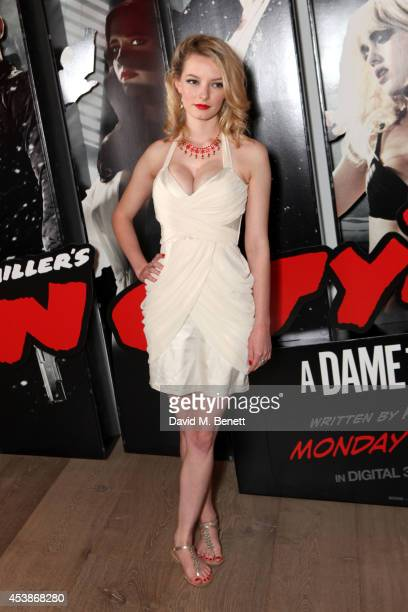 Dakota Blue Richards attends a VIP screening of 'Sin City 2' at Ham Yard Hotel on August 20 2014 in London England