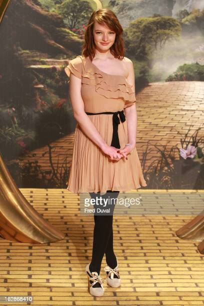 Dakota Blue Richards attends the European Film Premiere of 'Oz The Great And Powerful' at The Empire Cinema on February 28 2013 in London England