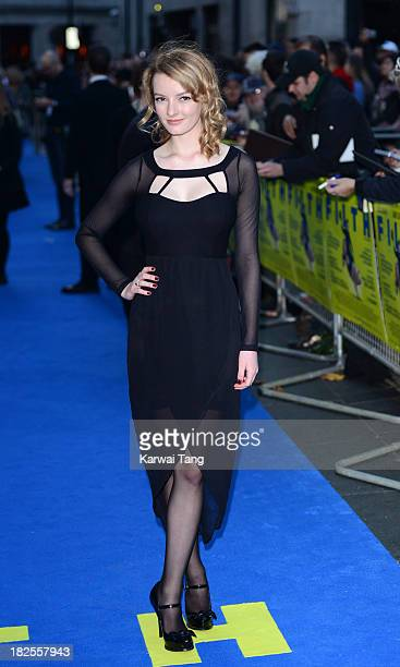 Dakota Blue Richards attends the London Premiere of 'Filth' at the Odeon West End on September 30 2013 in London England