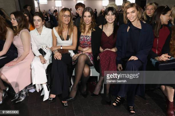 Dakota Blue Richards Clara Mcgregor Yasmin Le Bon Amber Le Bon Daisy Lowe and Arizona Muse attend the Roland Mouret show during London Fashion Week...