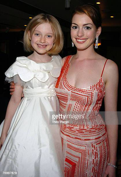Dakota Fanning and Anne Hathaway