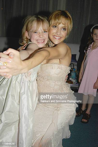 """Dakota Fanning and Brittany Murphy during """"Uptowngirls"""" Premiere Party at The Atlantic in Hamptons, New York, United States."""