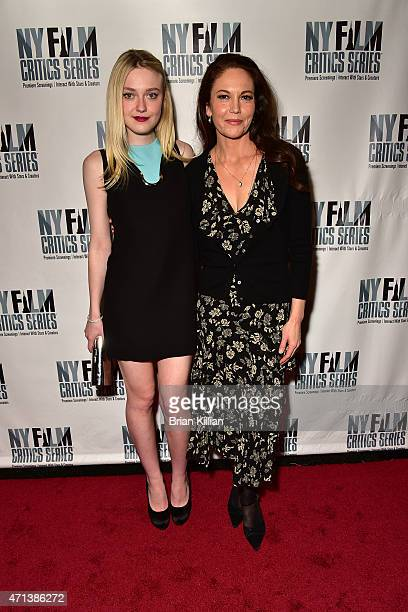 Dakota Fanning and Diane Lane attend the New York Film Critic Series Screening Of 'Every Secret Thing' at AMC Empire 25 theater on April 27 2015 in...