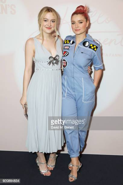 Dakota Fanning and Eve Hewson attend the Miu Miu Women's Tales Screening at The Curzon Mayfair on February 19 2018 in London England