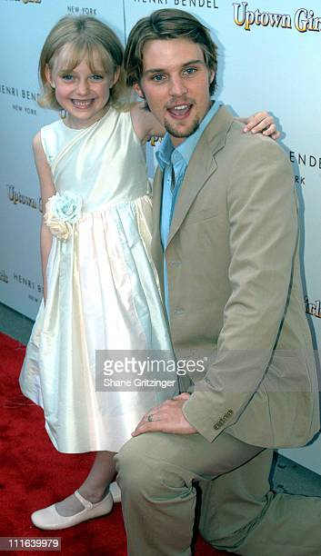 Dakota Fanning and Jesse Spencer during Uptown Girls Southampton Premiere at United Artists Southampton Theater in Southampton New York United States