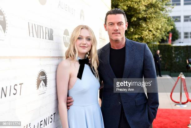 """Dakota Fanning and Luke Evans attend Emmy For Your Consideration Red Carpet Event For TNT's """"The Alienist"""" - Red Carpet at Wallis Annenberg Center..."""