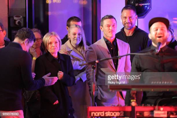 Dakota Fanning and Luke Evans seen at The One Show filmed at BBC Broadcasting House on March 28 2018 in London England