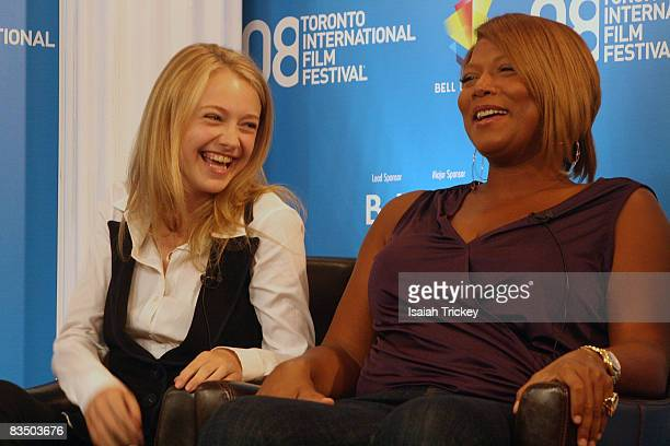 Dakota Fanning and Queen Latifah attend the press conference for The Secret Life of Bees at the 2008 Toronto Film Festival September 6 2008 in...